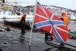 Прибытие атомного подводного ракетного крейсера Северного флота «Орёл» в пункт постоянного базирования 01.jpg