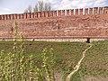 Прясло стены между Долгочевской и Ворониной башнями с проломом.JPG