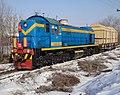 ТЭМ2-6150, Казахстан, Западно-Казахстанская область, станция Уральск (Trainpix 126555).jpg