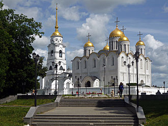 Vladimir, Russia - Dormition Cathedral was a venerated model for cathedrals all over Russia