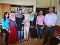 مجموعة عمل الطلبة ضمن برنامج اللغة الروسية في الجامعة الاردنية 03.JPG