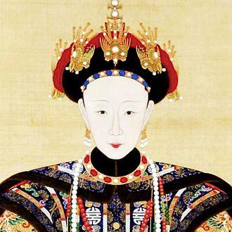 Empress Xiaoshurui - Image: 《孝淑睿皇后朝服像》局部