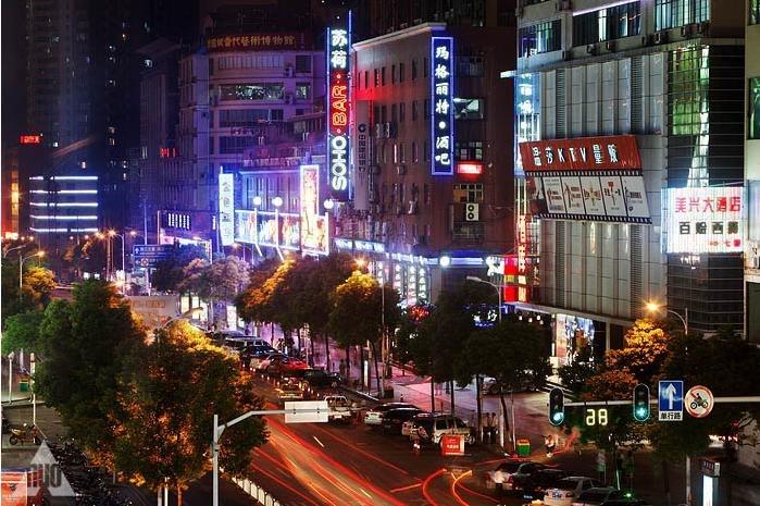 长沙市解放西路酒吧一条街