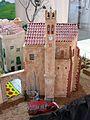024 Maqueta del poble de Mont-roig del Camp al Centre Miró, l'església vella.jpg