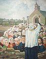 033 RP Cariou taolen 3 Prédication Le Nobletz parvis chapelle Douarnenez.JPG