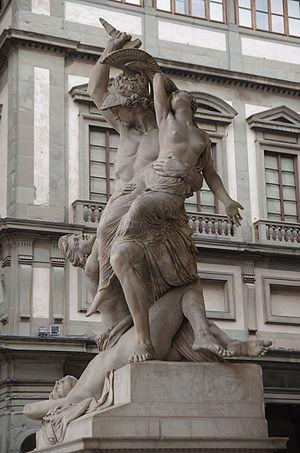 Polyxena - The Rape of Polyxena, Pio Fedi (1855 1865), Loggia dei Lanzi, Florence.