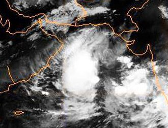 1998 North Indian Ocean cyclone season - Image: 05A peak 1998