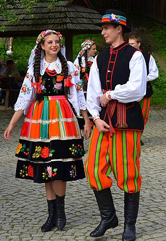 Mazovia - Folk costumes from Łowicz sub-region
