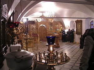 Kliros - Kliros in Church of St. John the Baptist, Yaroslavl, Russia.