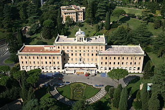 Bombing of the Vatican - Palace of the Governatorate of Vatican City State, one of the buildings damaged by the 5 November 1943 bombing