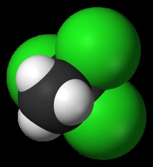 1,1,1-Trichloroethane - Image: 1,1,1 trichloroethane 3D vd W