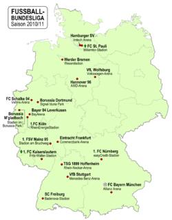Fu ball bundesliga 2010 2011 wikipedia for Bundesliga 2010
