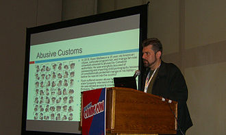 Comic Book Legal Defense Fund - CBLDF Executive Director Charles Brownstein speaking at the 2012 New York Comic Con