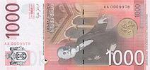 1000 dinaroj inversigas