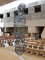 1130 Kardinal König-Platz 1 Lainzer Straße - Konzilsgedächtniskirche - Bronzeplastik Hängeweltflämmler von Gunter Damisch 2014 IMG 3054.jpg