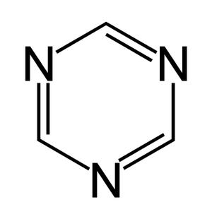 1,3,5-Triazine - Image: 135Triazine Structure