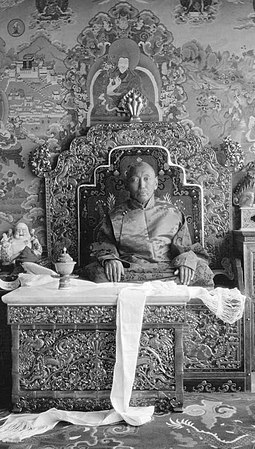 13th Dalai Lama in 1932, the year prior to his death 13th Dalai Lama in 1932.jpg
