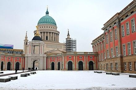 Blick über Den Hof Auf Fortunaportal Und Nikolaikirche