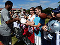 140123-F-NF934-586 Alfred Morris signs autographs, 2014 Pro Bowl.jpg