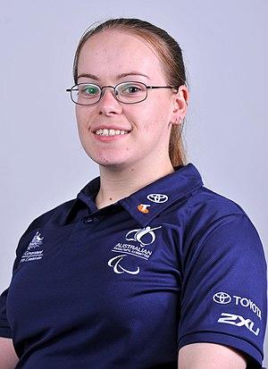 Katie Hill - 2012 Australian Paralympic Team portrait of Hill