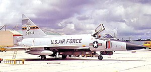 157th Fighter Squadron - 157th Fighter-Interceptor Squadron Convair F-102A Delta Dagger, AF Ser. No. 56-1048, 1973.