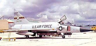 169th Fighter Wing - 157th Fighter-Interceptor Squadron Convair F-102A Delta Dagger 56-1048, 1973.