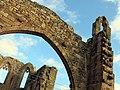 175 Ruïnes del monestir de Vallsanta (Guimerà), façana oest i absis.jpg