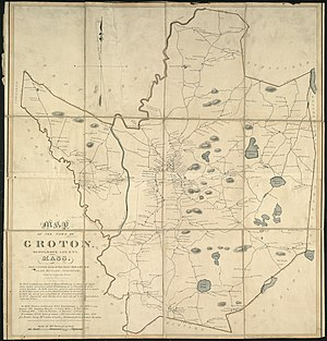 Groton, Massachusetts - 1831 map of Groton