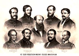Hungarian Revolution of 1848 - Members of the Batthyány government