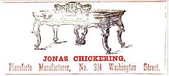 Jonas Chickering - 1853 advertisement