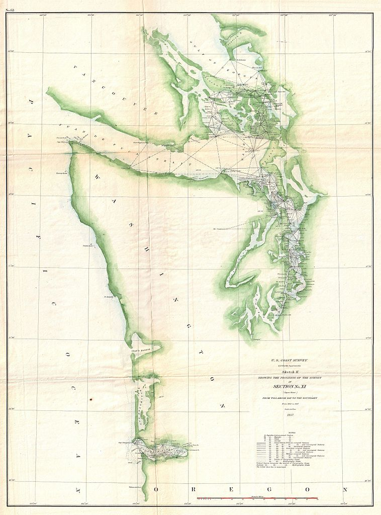 File US Coast Survey Chart Or Map Of The Washington Coast - Us map puget sound