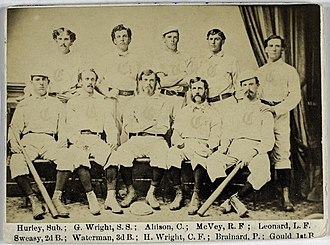 History of the Cincinnati Reds - The 1869 Cincinnati Red Stockings team photograph.