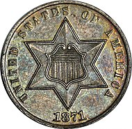 1871 Proof Three-cent silver obverse.jpg