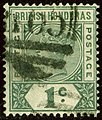 1895 1c British Honduras ovalA06 Yv38 Mi31 SG51.jpg