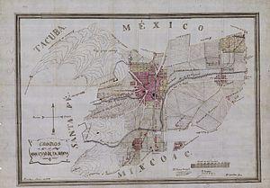 Tacubaya - Tacubaya municipality in 1897