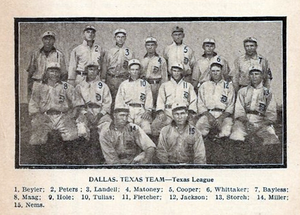 George Jackson (baseball) - Jackson (labeled 12) spent the 1908 season with the Dallas Giants.