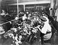 1915 detail, People making teddy bears in factory LCCN93517563 (cropped).jpg