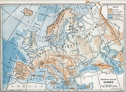 Geography of Europe - Wikipedia