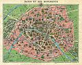 1920s Leconte Map of Paris w-Monuments and Map of Versailles - Geographicus - ParisVersailles-leconte-1920s - 1.jpg