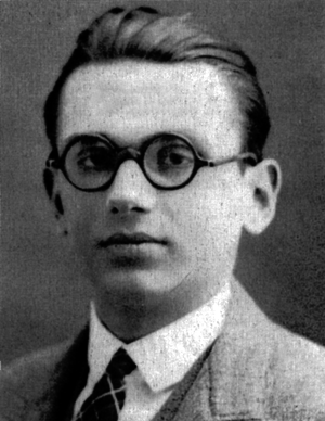Portrait of Kurt Gödel, one of the most signif...