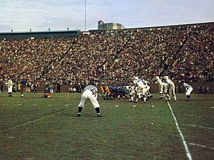 Penn State–Pittsburgh football rivalry - Pitt versus Penn State at Pitt Stadium on November 27, 1958