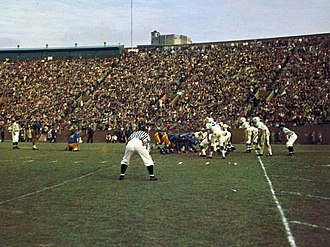 Penn State–Pittsburgh football rivalry - Pitt versus Penn State at Pitt Stadium on November 27, 1958