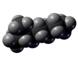 Spacefill model of 2-methylheptane