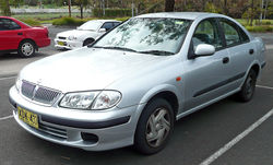 2000–2003 Nissan Pulsar (N16) ST sedan (Australia)