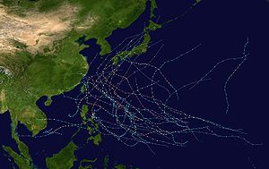 2004 Pacific typhoon season - Image: 2004 Pacific typhoon season summary