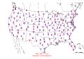 2006-06-13 Max-min Temperature Map NOAA.png