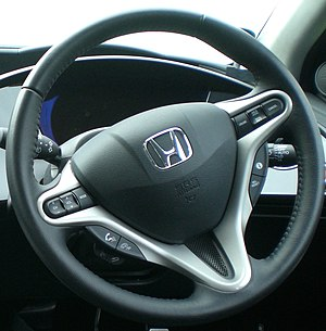 Driver's steering wheel airbag in a 2006 Honda...
