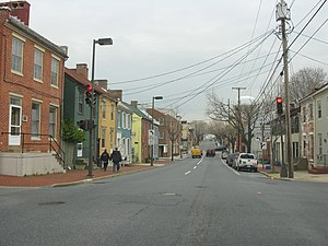 Maryland Route 144 - MD 144 eastbound in downtown Frederick