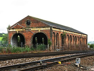 Exeter St Davids railway station - The transfer shed built in the 1860s