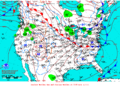 2012-01-30 Surface Weather Map NOAA.png